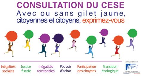 Mobilisation des Gilets Jaunes :  le CESE à l'écoute des citoyennes et citoyens