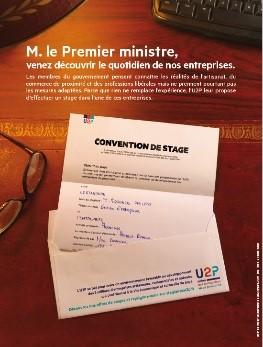 Avec l'U2P, l'UNAPL offre un stage dans une entreprise libérale au Premier ministre