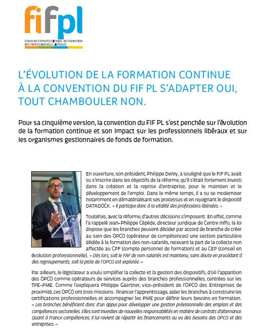 Newsletter Convention FIF PL
