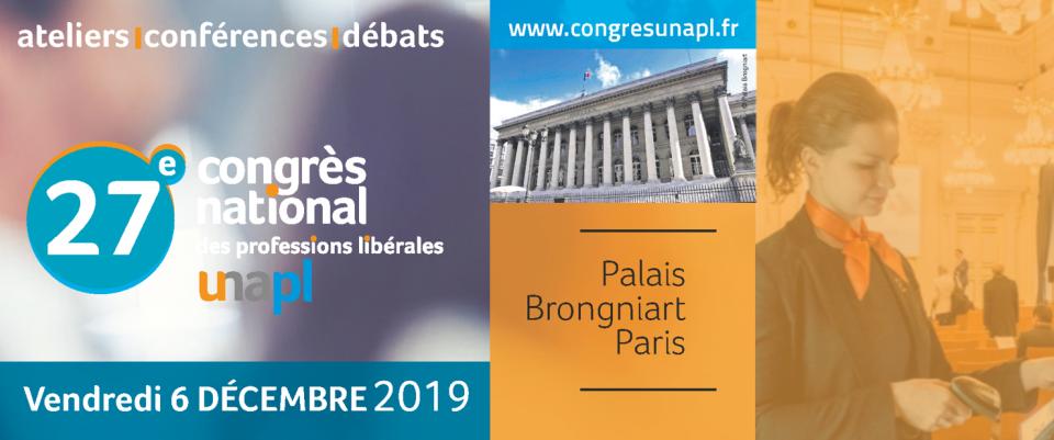 Rendez-vous le 6 décembre 2019 pour la 27e édition du CONGRÈS DES PROFESSIONS LIBÉRALES